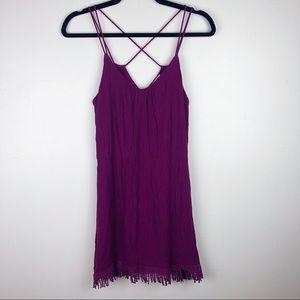 Socialite | Purple Criss Cross Mini Dress